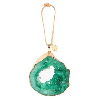 Crystal Geode Ornament – Green