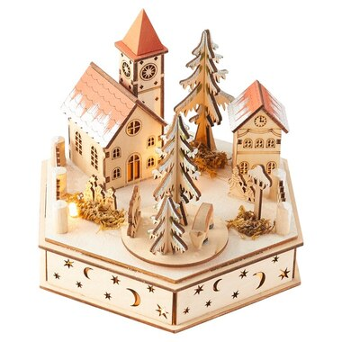 BAVARIAN VILLAGE MUSIC BOX