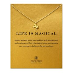 Life Is Magical Unicorn Necklace, Gold