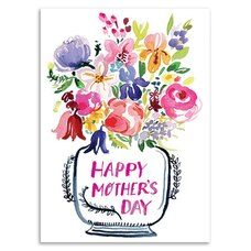 Paper E. Clips Mother's Day Card Mother Day Bouquet