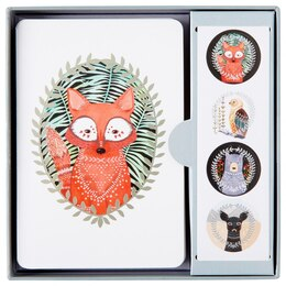 Studio Oh! Woodland Creatures Note Cards, Set of 12
