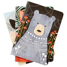 Set of 3 Notebooks Woodland Creatures