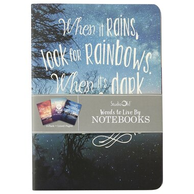 Studio Oh! Set of 3 Notebooks - Words to Live By