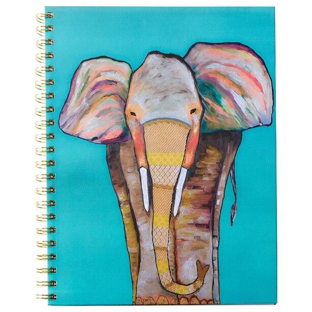 Extra Large Spiral Notebook Majestic Elephant