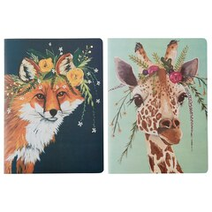 Ensemble de 2 carnets — Renard et girafe