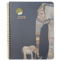 2019 17-Month Extra Large Flexi Planner - Elephants