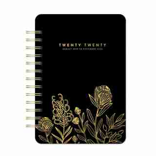2020 Do It All Planner Black with Gold Floral
