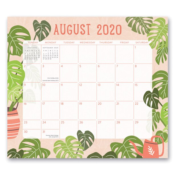 2020-2021 17-Month Wall Calendar Grow Together