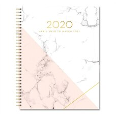 2020 MIDYEAR PLANNER XL WHITE/PINK MARBLE
