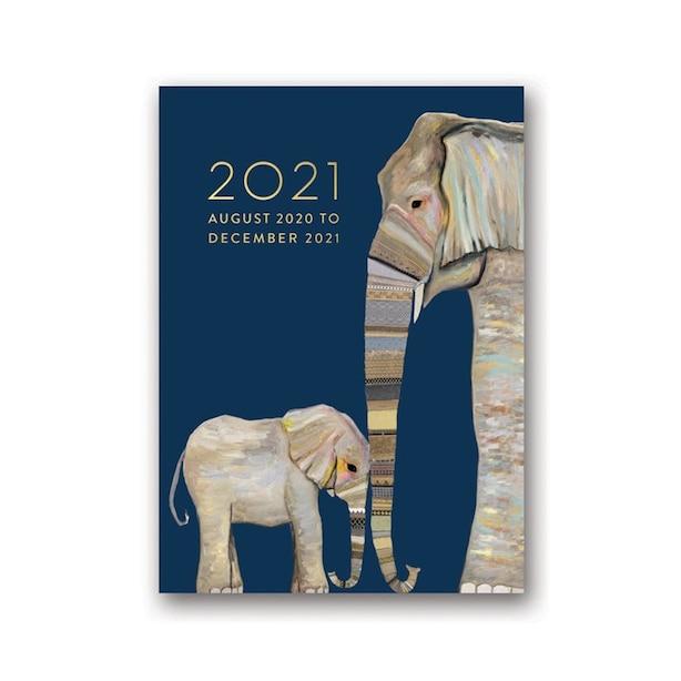 August 2020 - December 2021 Elephants Planner