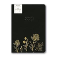 Orange Circle Studio 2020-2021 17 Month Weekly Black/Gold Floral Planner