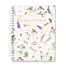April 2021 - March 2022 Bi-Weekly XL Spiral Floral Planner
