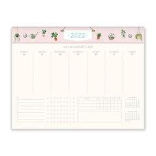 August 2021 - December 2022 Treasurely Weekly Desk Calender