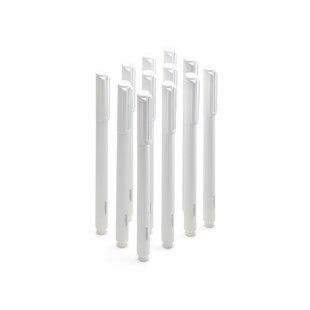 Poppin Signature Ballpoint Pens, Set of 12 - White