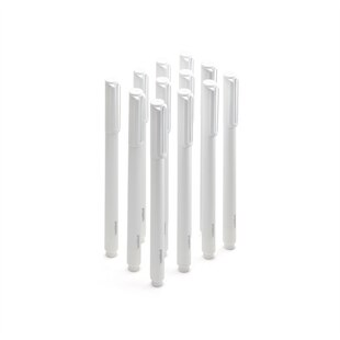 Poppin Signature Ballpoint Pens, Set of 12 - White