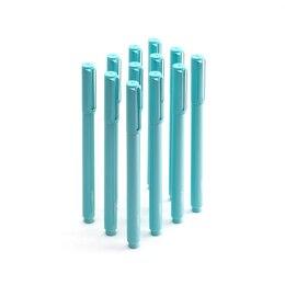 Poppin Signature Ballpoint Pens, Set of 12 - Aqua