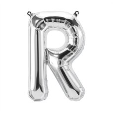"""13.5"""" Letter R Silver"""