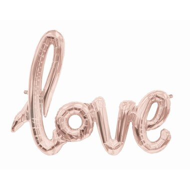 "30"" LOVE Script Balloon- Rose Gold"