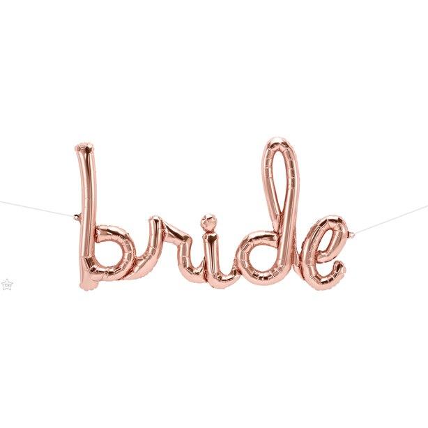 """Northstar Balloons 33"""" Bride Script - Rose Gold"""