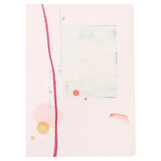 Soft Cover Notebook - Brush Path
