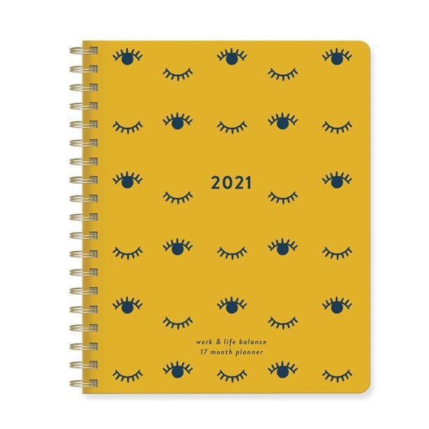 2020-2021 17-Month XL Spiral Agenda Eye Print