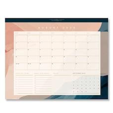 2020-2021 17-Month Desk Blotter Painterly