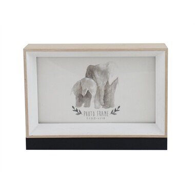 6x4 Double Sided Picture Frame Whitenatural Woodblack By Bee