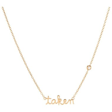 Taken Necklace with Diamond Bezel - Yellow Gold