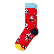FUN Socks Red Green Hockey