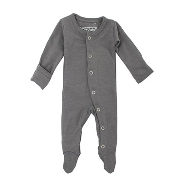 L'ovedbaby Organic Footed Overall Gray 0-3m