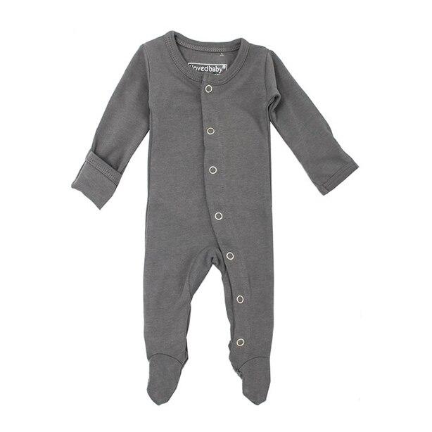 Combinaison pyjama en coton biologique L'ovedbaby gris 0-3mois