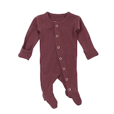 L'ovedbaby Sleeper 100% Organic Cotton Eggplant 0 to 3 Months