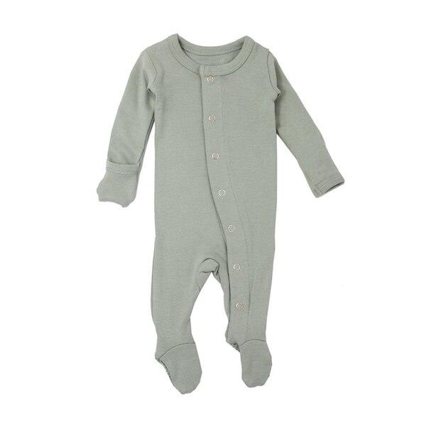 Combinaison pyjama en coton biologique L'ovedbaby écume de mer 6-9mois