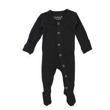 Combinaison pyjama en coton 100% biologique L'ovedbaby noir 0-3mois