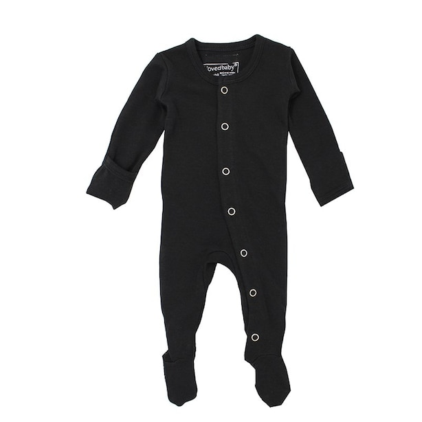 L'ovedbaby Sleeper 100% Organic Cotton Black 0 to 3 Months