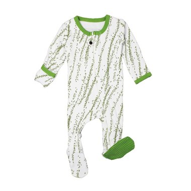 L'ovedbaby® Footed Sleeper Moss Willow Preemie-Newborn