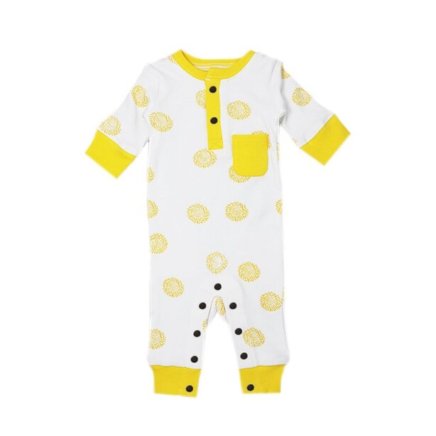 L'ovedbaby® Footless Romper Yellow Sunflower 3-6 Months