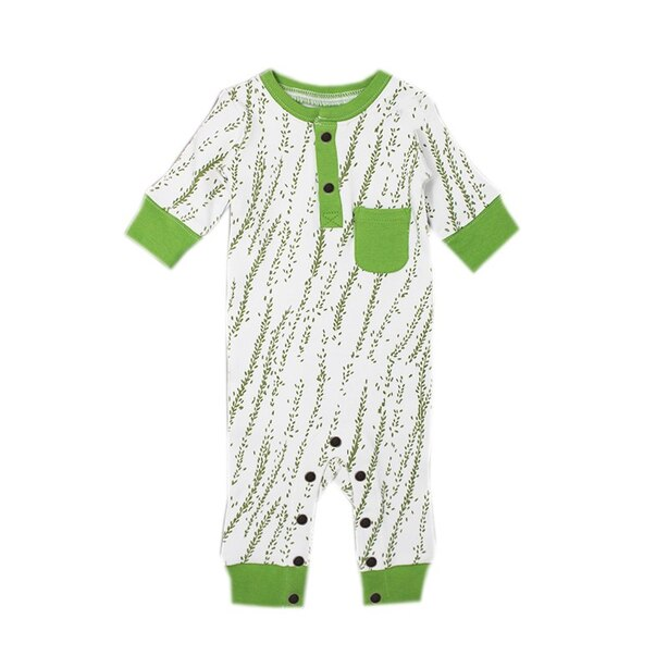 L'ovedbaby® Footless Romper Moss Willow 3-6 Months