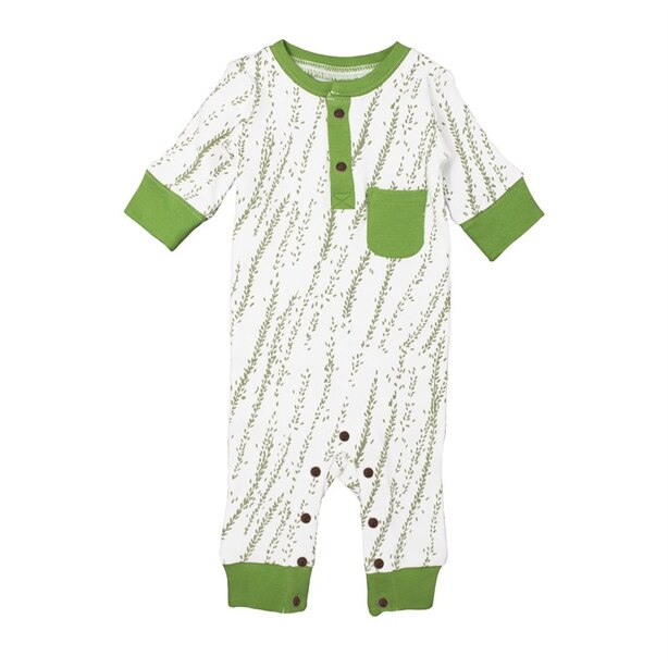 L'ovedbaby® Footless Romper Moss Willow 6-9 Months