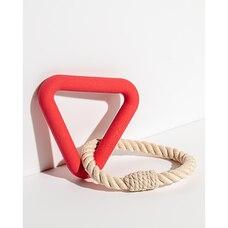 Wild One Triangle Tug Dog Toy Red