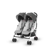 G-LINK Double Umbrella Stroller - JORDAN (Charcoal/Silver)