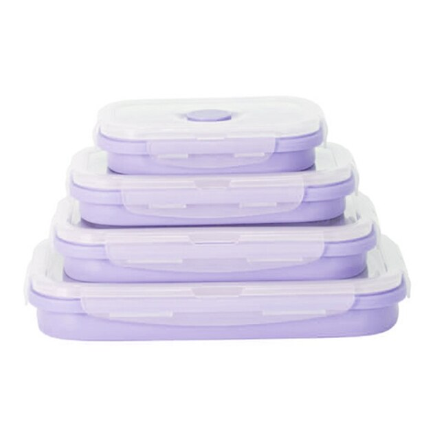 DASH COLLAPSIBLE FOOD STORAGE CONTAINERS LAVENDER SET OF 4