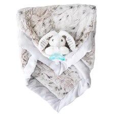 Couverture en peluche Luxie Pocket avec tétine RaZ-Buddy JollyPop RaZbaby - Snow Leopard avec Coco…