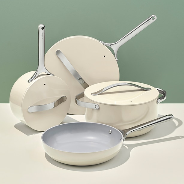 CARAWAY CERAMIC COOKWARE SET CREAM