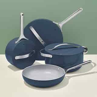 CARAWAY CERAMIC COOKWARE SET NAVY