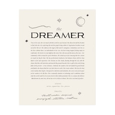 Wilde House Paper - Imprime' - The Dreamer (20,5 CM X 25,5 CM)