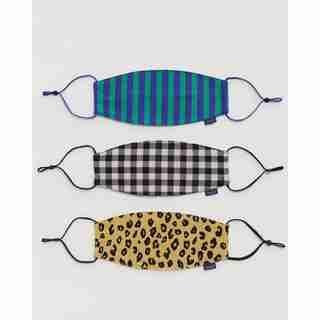 Masques en coton réutilisables – MOTIFS VICHY, LÉOPARD ET À RAYURES