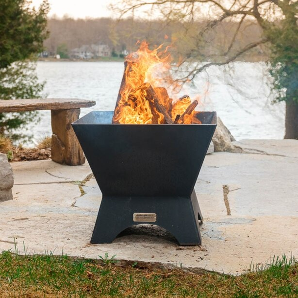 """24"""" Modern Cube Fire Pit & Table Top"""
