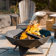 Iron Embers 3' Polygon Bowl Fire Pit Decked Out Bundle