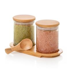 Dual Bath Salt Set - Lavender Matcha